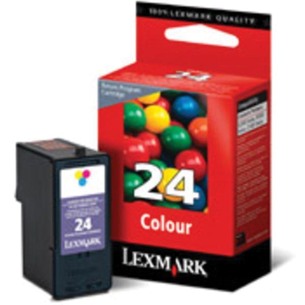 Lexmark inktcartridge 24, 3 kleuren, 185 pagina's - OEM: 18C1524E