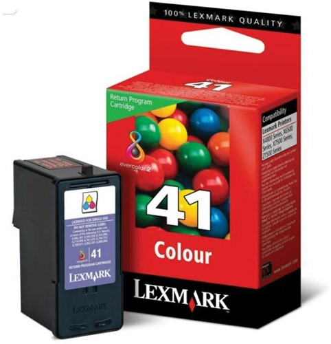 Lexmark inktcartridge 41, 3 kleuren, 210 pagina's - OEM: 18Y0141E