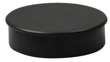 Nobo magneten diameter 20 mm, zwart, blister van 8 stuks