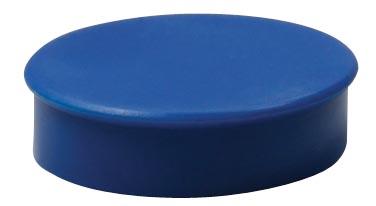 Nobo magneten diameter van 20 mm, blauw, blister van 8 stuks