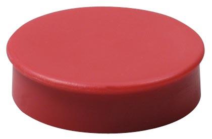 Nobo magneten diameter van 30 mm, rood, blister van 4 stuks
