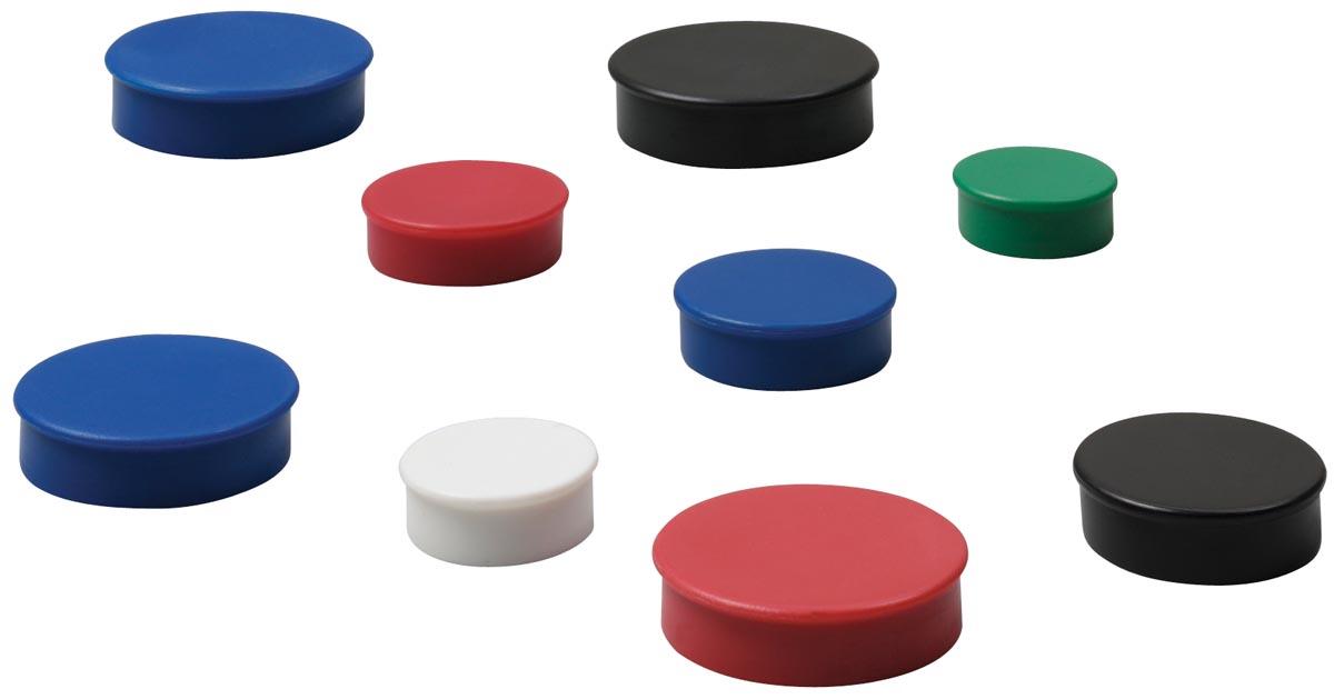 Nobo Magneten, diameter 38 mm, zwart, blister van 4 stuks
