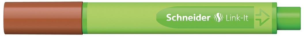 Schneider fineliner Link-it mahoniebruin