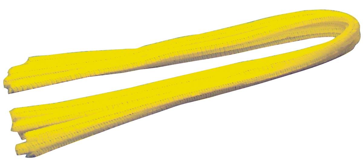 Bouhon chenilledraad geel, pak van 10 stuks