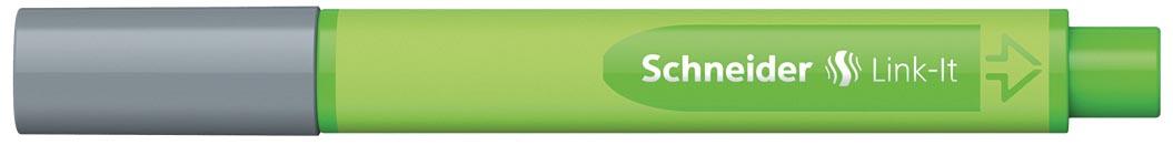 Schneider fineliner Link-it zilvergrijs