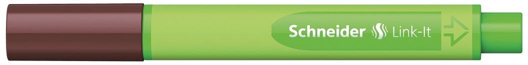 Schneider fineliner Link-it topaasbruin