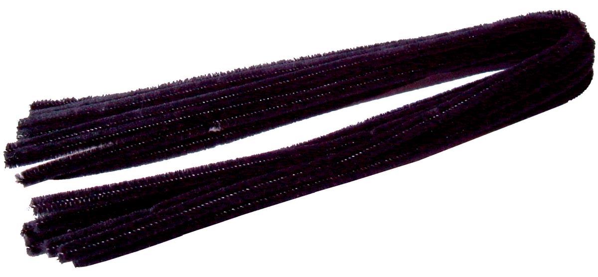 Bouhon chenilledraad zwart, pak van 10 stuks