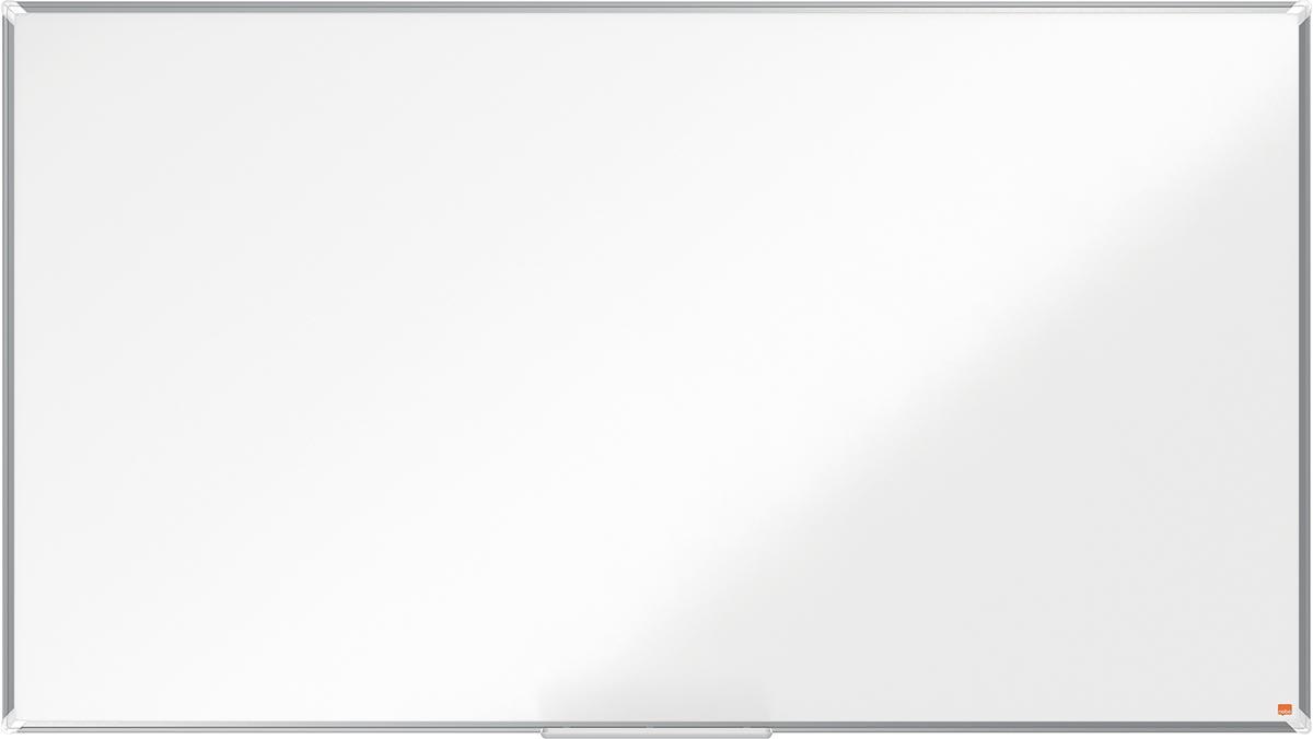 Nobo Premium Plus Widescreen magnetisch whiteboard, gelakt staal, ft 188 x 106 cm