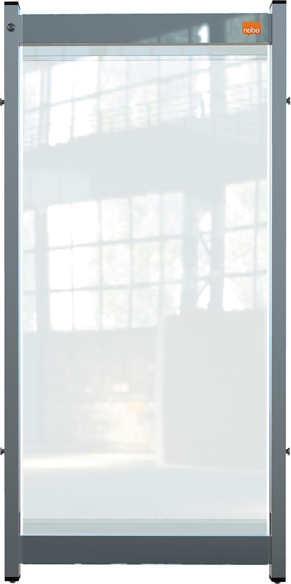 Nobo Premium Plus bureauscherm, doorzichtig PVC, 400 x 820 mm