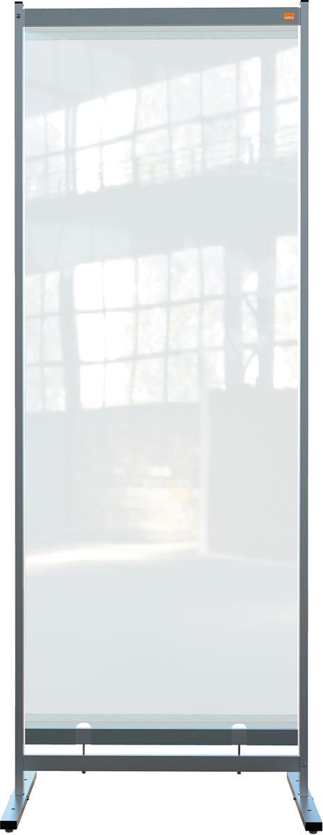 Nobo Premium Plus vrijstaande vloerscheidingspaneel, doorzichtig PVC, 780 x 2060 mm