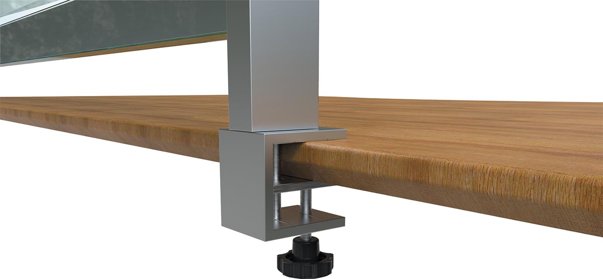 Nobo bureauklemmen voor Premium Plus bureauschermen van doorzichtig PVC, 2 stuks