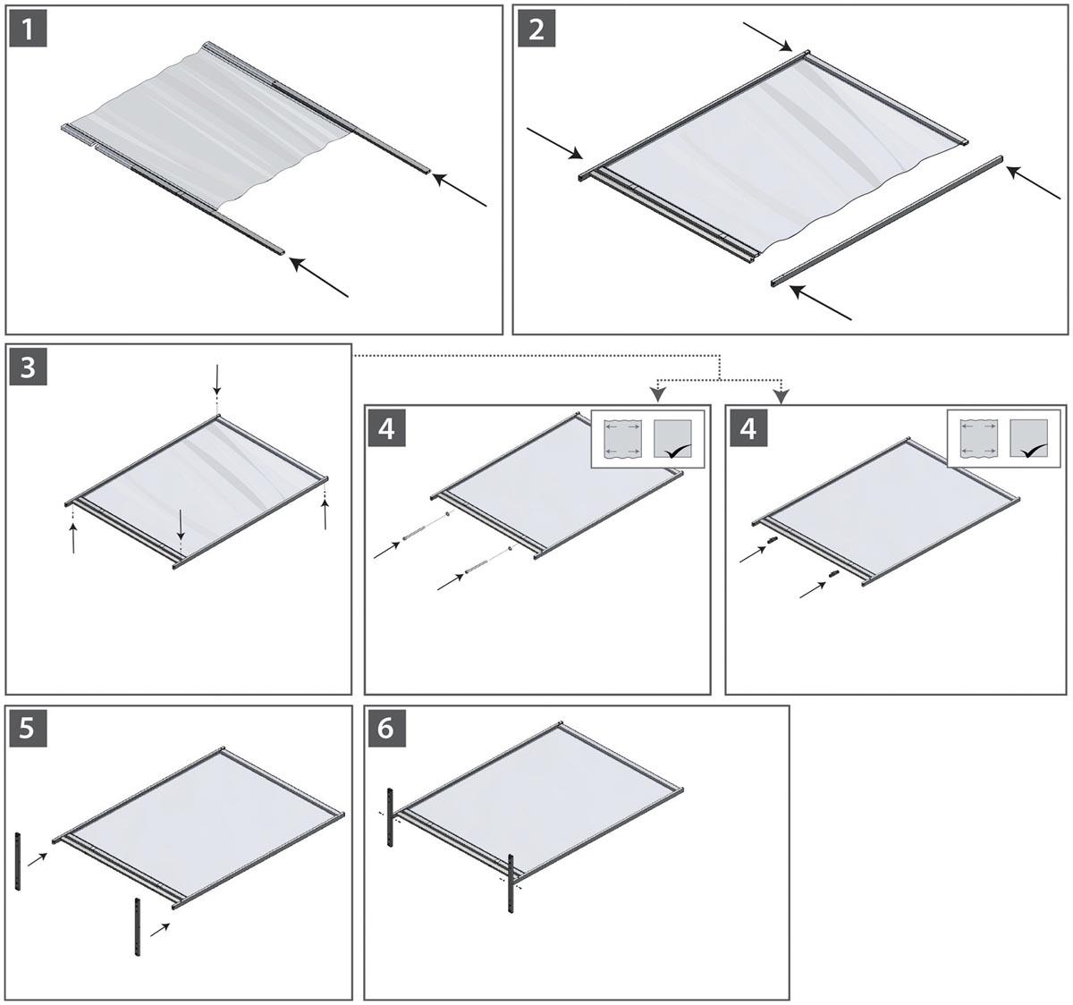 Nobo Premium Plus vrijstaande scheidingswand, doorzichtig PVC? 780 x 2060 mm
