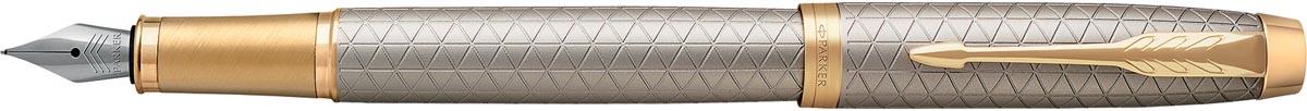 Parker IM Premium vulpen medium, zilver GT