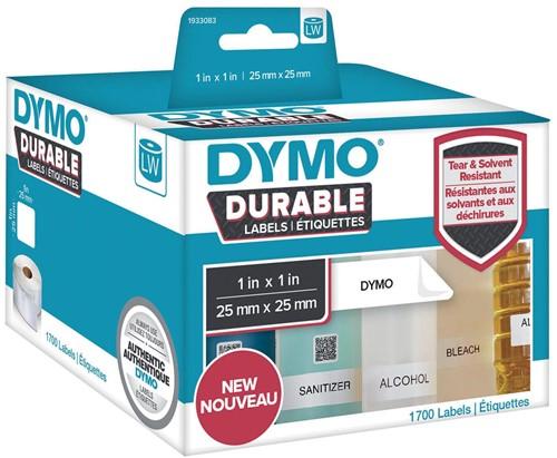Dymo duurzame etiketten LabelWriter ft 25 x 25 mm, 1700 etiketten