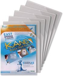 Tarifold tview tas met magnetische rug geschikt voor ft A5 wit, pak van 5 stuks