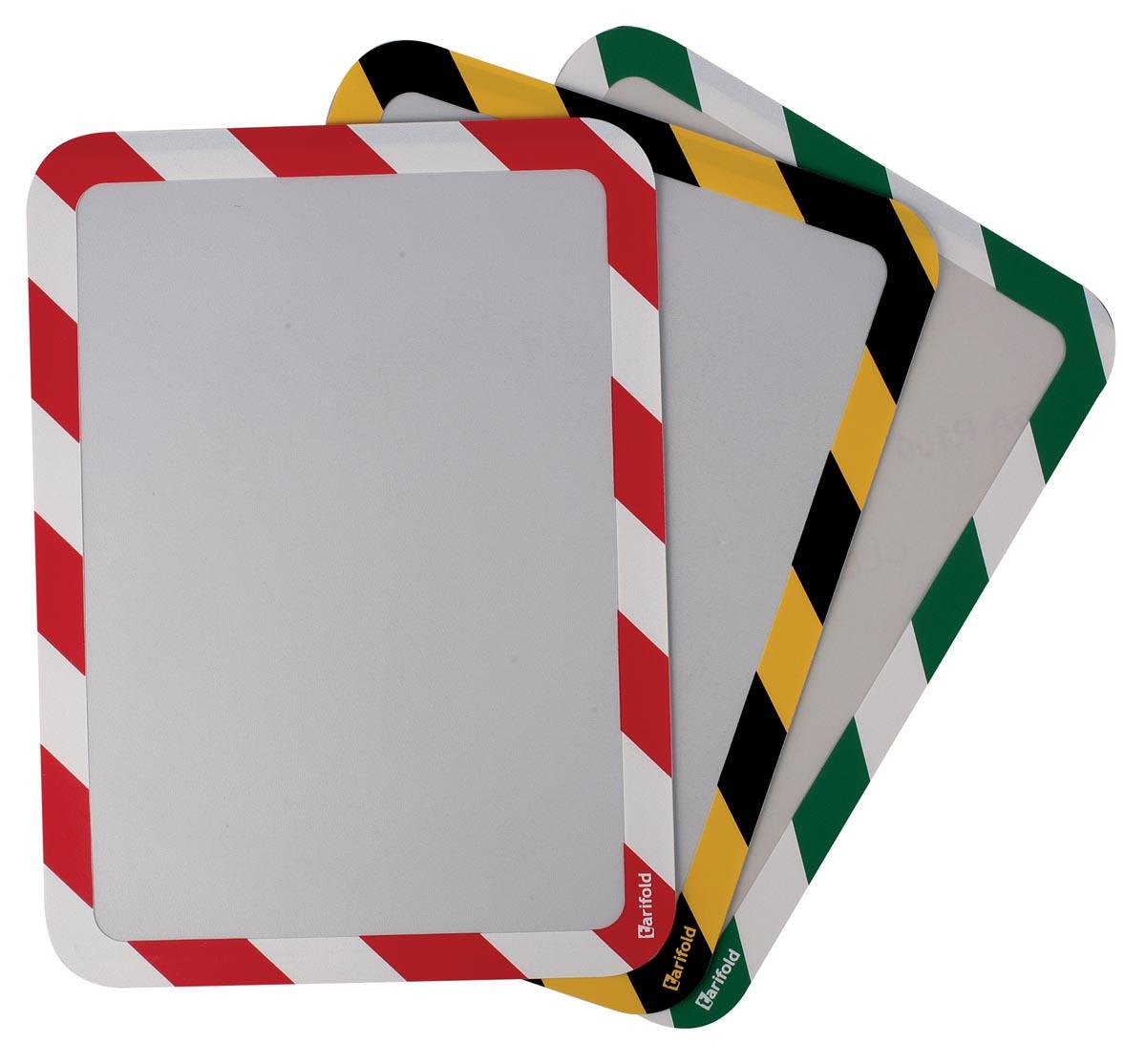Tarifold zelfklevende tas, ft A4, rood/wit, pak van 2 stuks