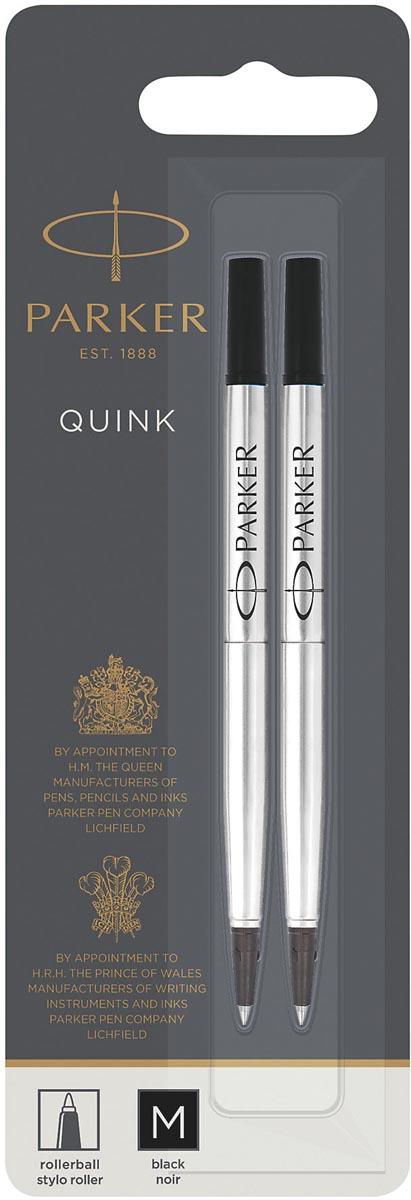 Parker Quink vulling voor roller zwart, blister met 2 stuks