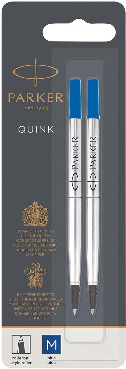 Parker Quink vulling voor roller blauw, blister met 2 stuks
