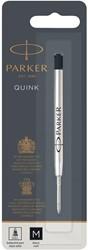 Parker Quink gelvulling voor balpen medium, zwart, op blister