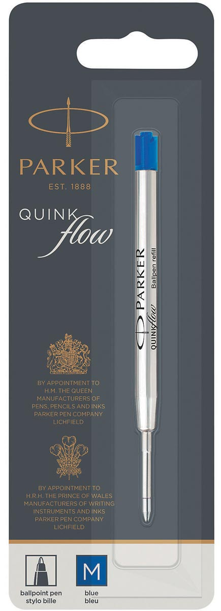 Parker Quinkflow vulling voor balpen medium, blauw, op blister