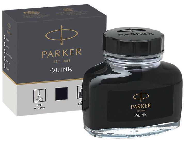 Parker Quink inktpot zwart