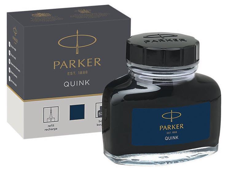 Parker Quink inktpot blauw-zwart