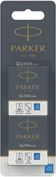 Parker Quink Mini inktpatronen blauw, blister met 12 stuks