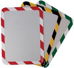 Tarifold tas met magnetische strips, ft A4, rood/wit, pak van 2 stuks
