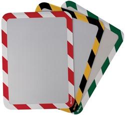 Tarifold tas met magnetische strips, ft A4, groen/wit, pak van 2 stuks