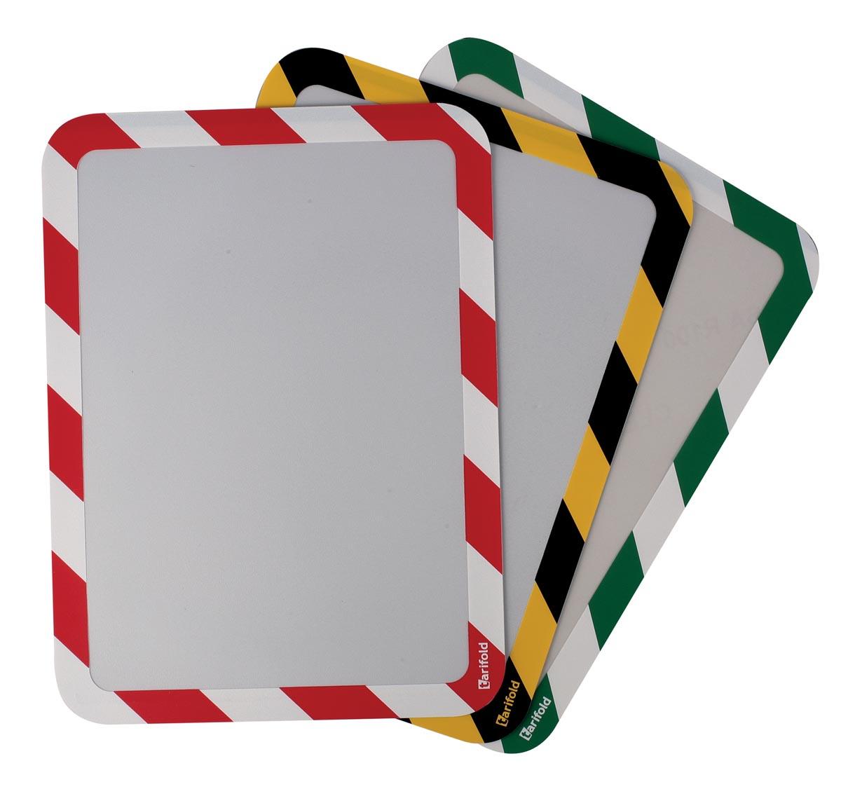 Tarifold tas met magnetische strips,ft A3, geel/zwart, pak van 2 stuks
