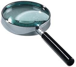 Leesloep diameter: 60 mm, vergroot 3 keer, in ophangdoosje