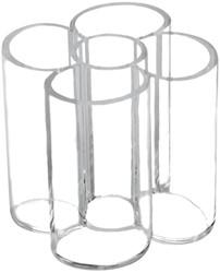 Maul acryl pennenkoker met 5 vakken, transparant