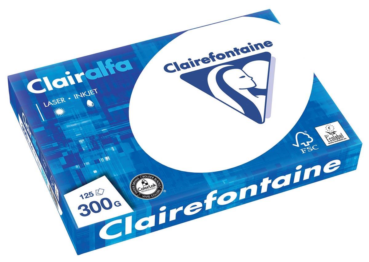 Clairefontaine Clairalfa presentatiepapier A4, 300 g, pak van 125 vel