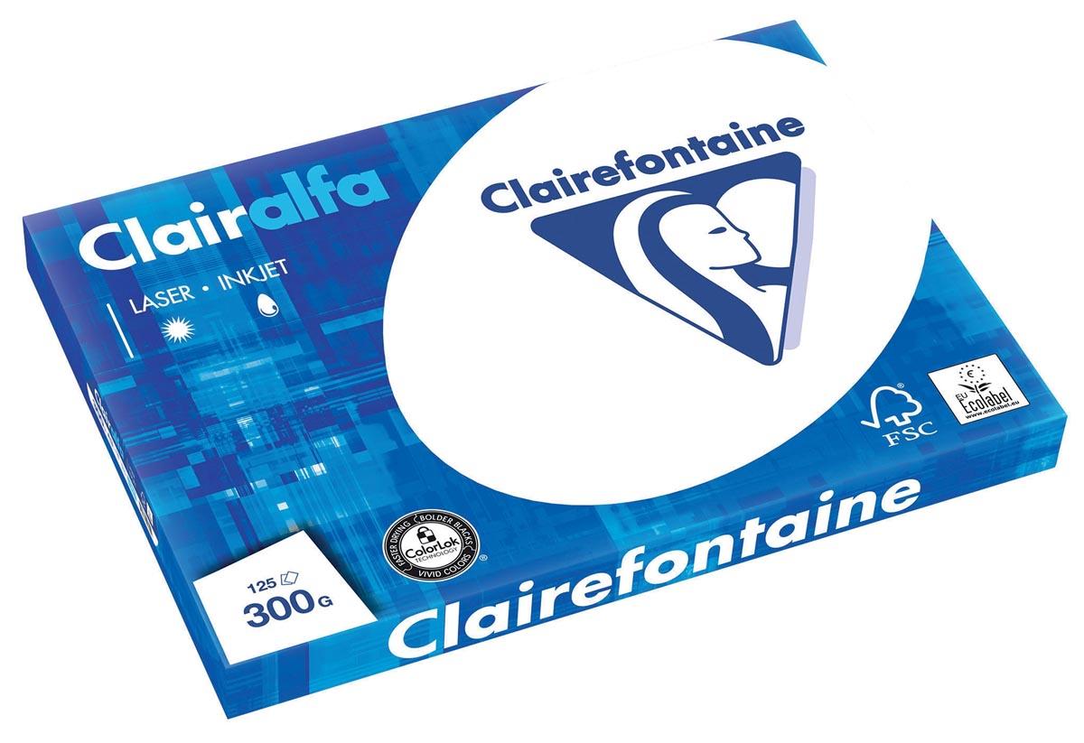 Clairefontaine Clairalfa presentatiepapier A3, 300 g, pak van 125 vel
