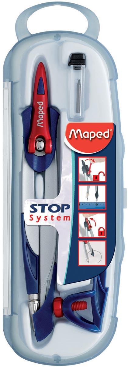 Maped passer Stop System, 3delige passerdoos met 1 passer Stop System, 1 universeel inzetstuk, 1 kok