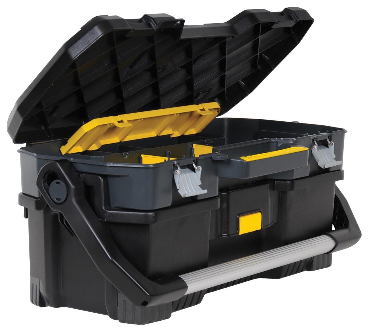 Stanley gereedschapsbak 24 inch, zwart