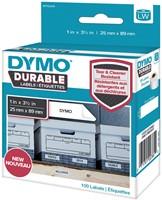 Dymo duurzame etiketten LabelWriter ft 25 x 89 mm, 100 etiketten