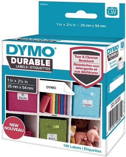 Dymo duurzame etiketten LabelWriter ft 25 x 54 mm, 160 etiketten