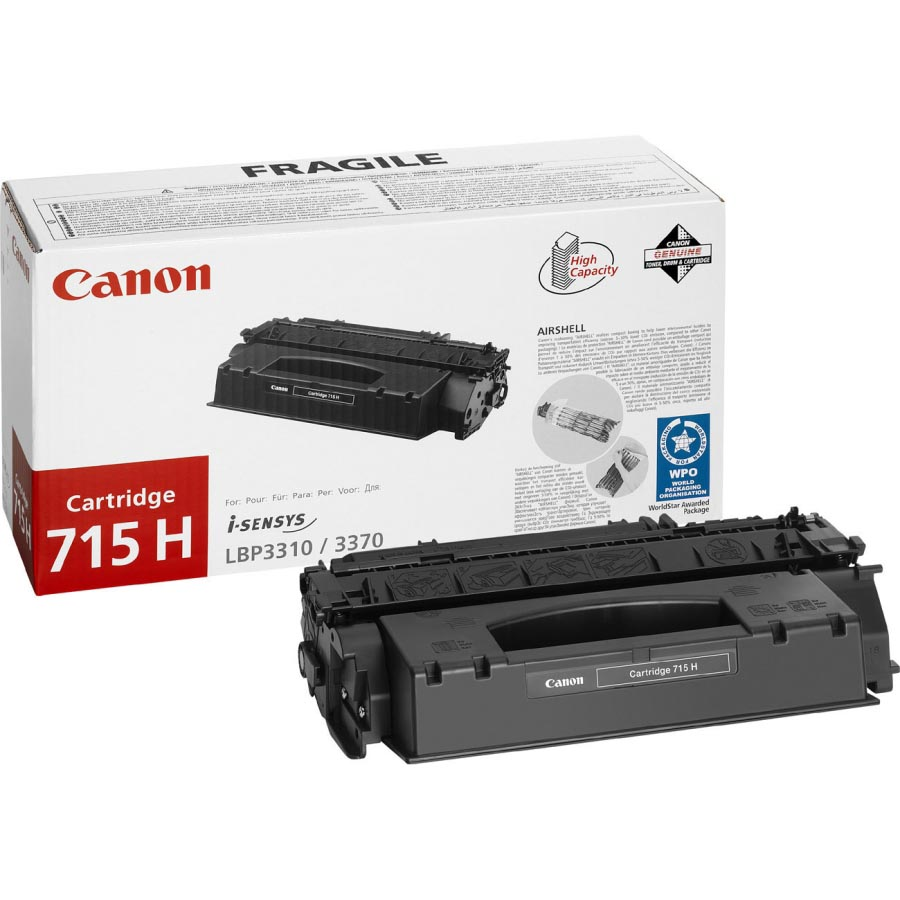 Canon toner 715H, 7.000 pagina's, OEM 1976B002, zwart