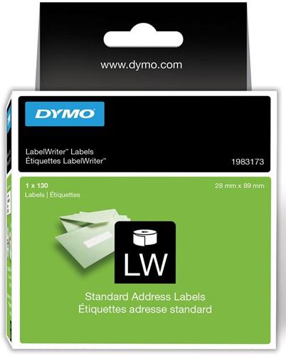 Dymo duurzame etiketten LabelWriter ft 28 x 89 mm, 130 etiketten
