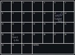 Naga zelfklevende krijtbordfolie maandplanner ft 70 x 100 cm
