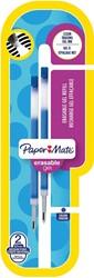 Paper Mate Inkjoy vulling voor erasable gel roller, blauw, blister met 2 vullingen
