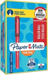 Paper Mate InkJoy liquid-ink roller, fijn, rood