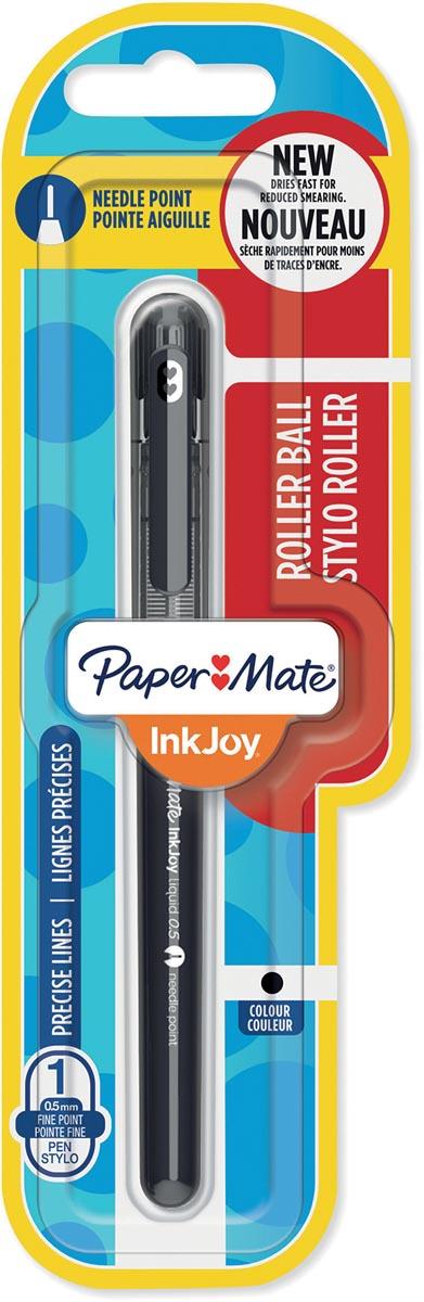 Paper Mate InkJoy liquid-ink roller, fijn, zwart, op blister