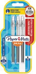 Paper Mate InkJoy vulling voor liquid-ink roller fijn, zwart, blister met 3 vullingen