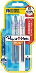 Paper Mate InkJoy vulling voor liquid-ink roller fijn, blauw, blister met 3 vullingen