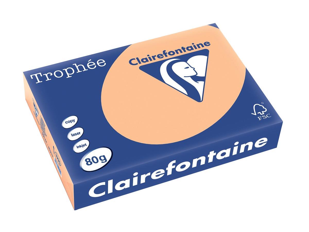 Clairefontaine Trophée Pastel A4, 80 g, 500 vel, abrikoos