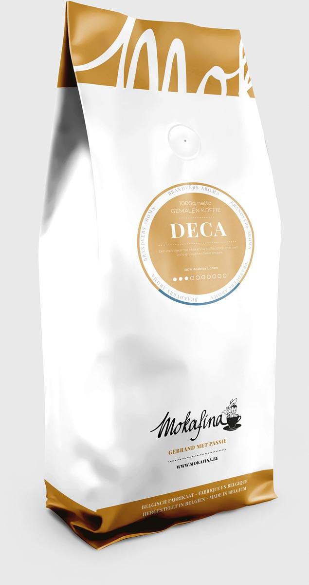 Mokafina Deca cafeînevrije gemalen koffie, pak vn 1 kg, sterkte van 3