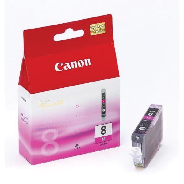 Canon inktcartridge CLI-8 magenta, 420 pagina's - OEM: 0622B026, met beveiligingsysteem