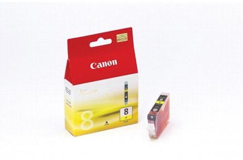 Canon inktcartridge CLI-8 geel, 420 pagina's - OEM: 0623B026, met beveiligingsysteem